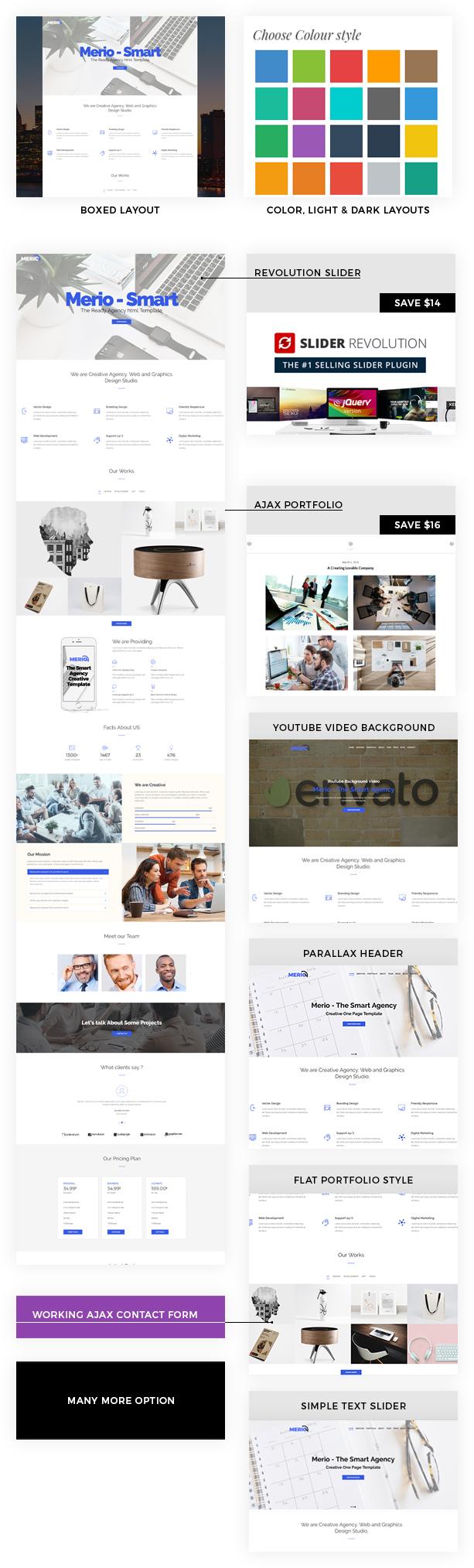 Merio - Creative One Page Parallax - 1