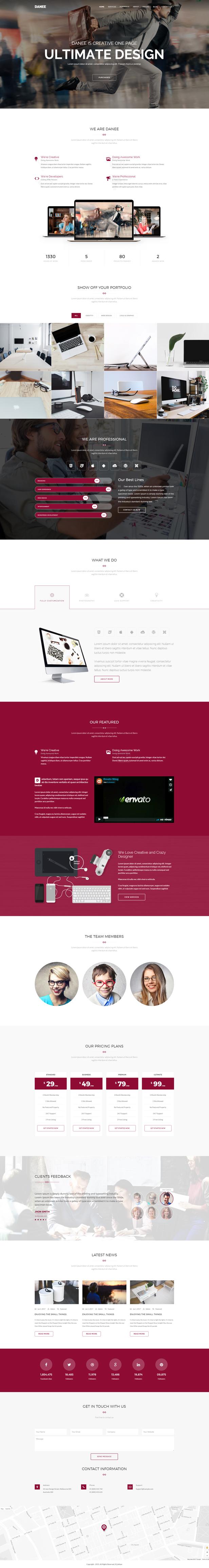 DANEE – Onepage WordPress Theme (Creative)