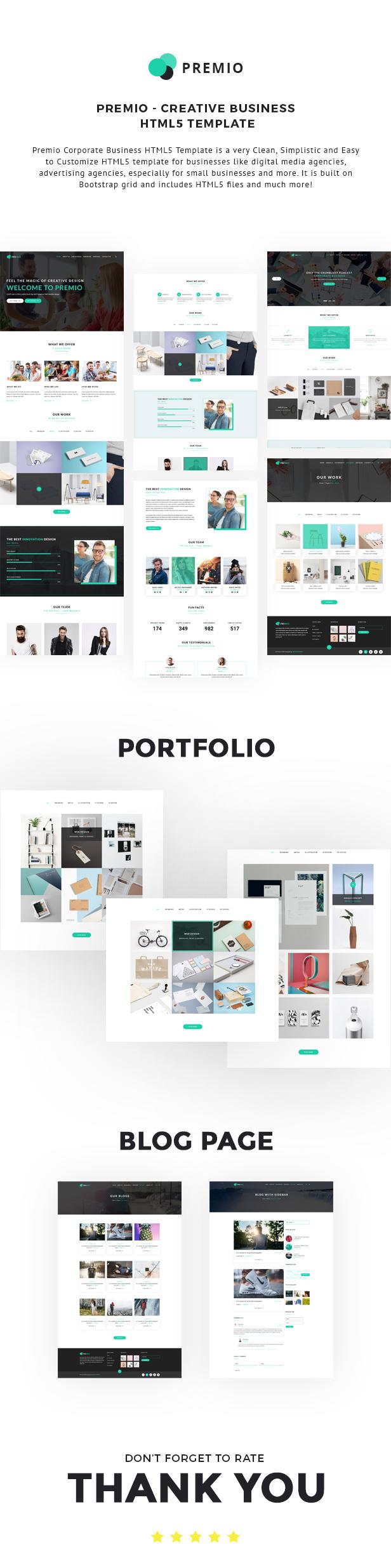 Premio  Creative Business WordPress Theme (Corporate)